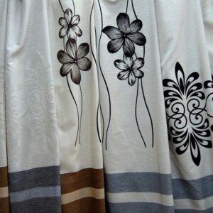 draperie rustic black out cu insertie de bumbac