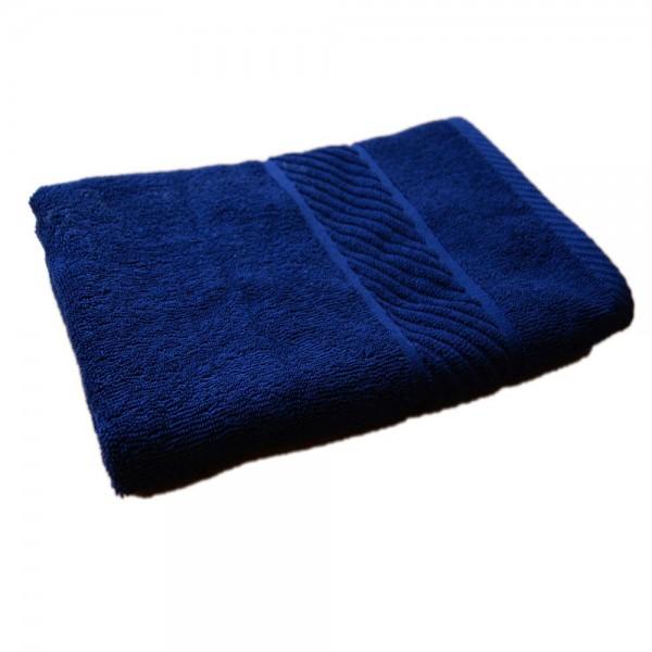 Prosop de baie cu bordura Albastru inchis